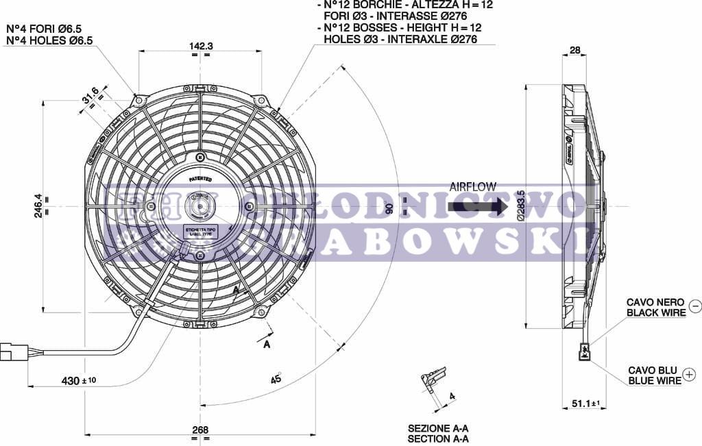 axial fan spal 12v   va11 c