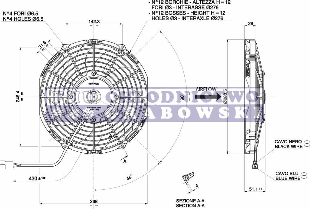 Condenser fan 24V Thermo King V-series ; 78-1186 ORIGINAL