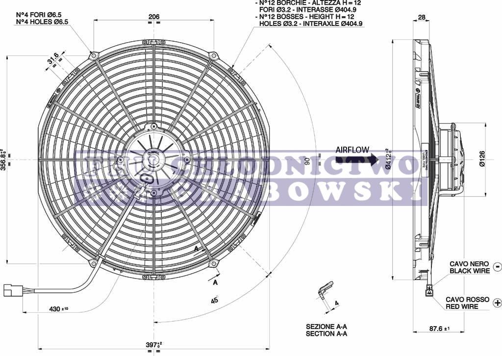 Fan Spal 12v Va18 Ap70 Ll 86a Original