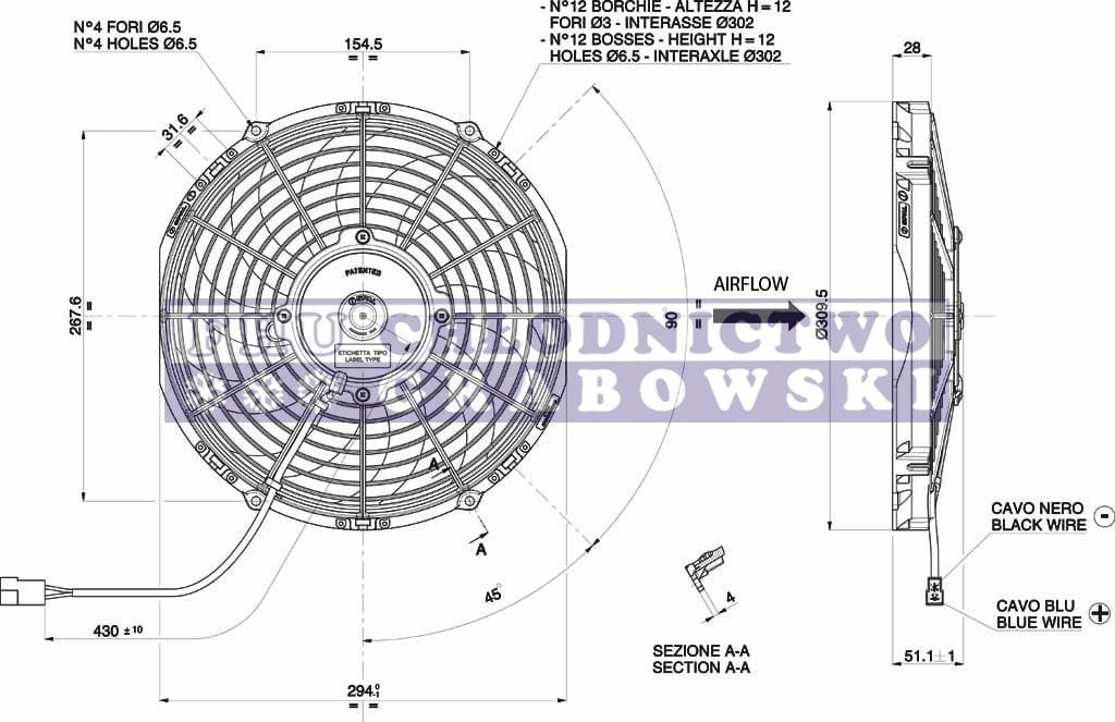 condenser fan 12v carrier xarios    viento   54